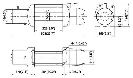 Сравнение электрических лебедок для эвакуаторов 24В ComeUP.  Необходимые требования при эксплуатации лебедок.